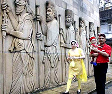 Parsi Family at Fire Temple
